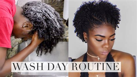 type 4 natural hair wash day routine courtney
