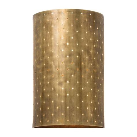 tall punched brass sconce trending decor wall sconces