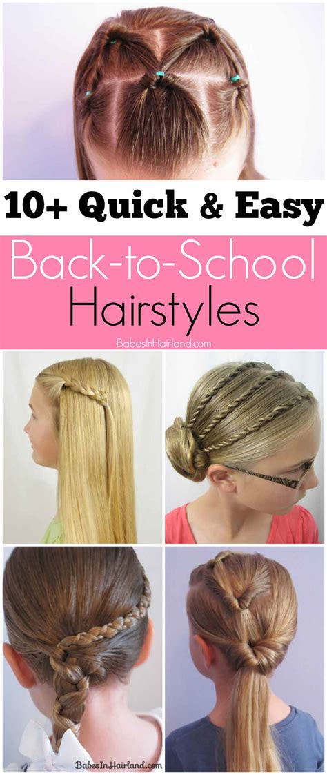 10 quick easy school hairstyles babes hairland