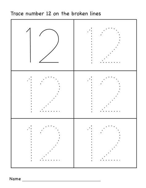 number 12 worksheets easy activity shelter