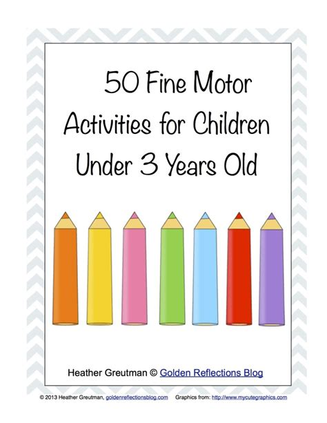 free homeschool printables 50 fine motor activities children