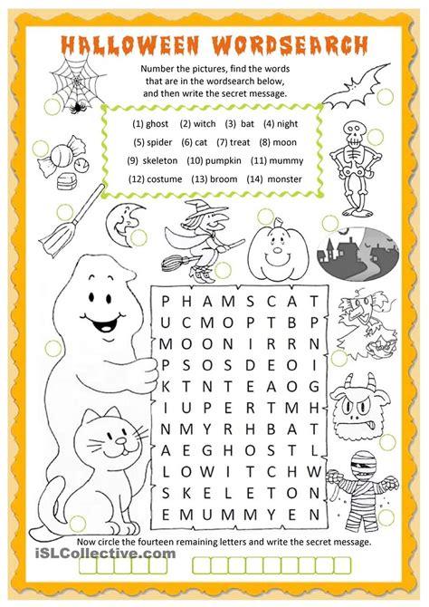 halloween wordsearch worksheet free esl printable worksheets teachers