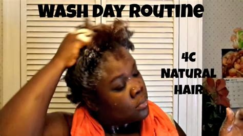 part 1 wash day routine 4c natural hair