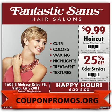 fantastic sams 9 99 haircut coupon coupon