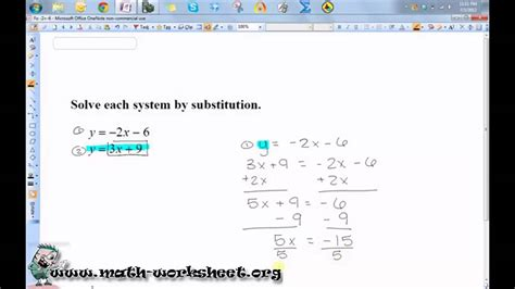 algebra systems equations inequalities solving substitution easy youtube