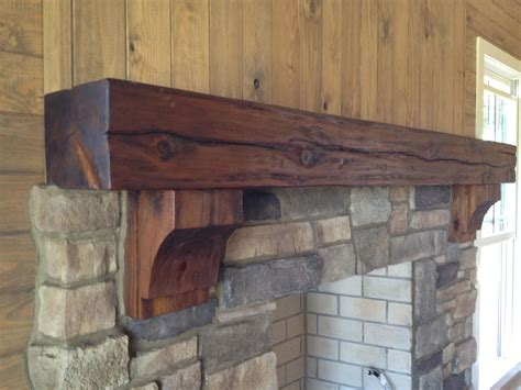 rustic timber mantel corbels burruscompany