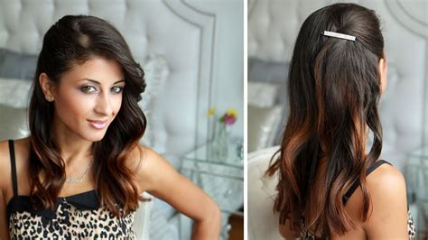 celebrity side pinned hairstyle youtube