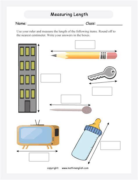 measuring length ws 2nd grade worksheets 2nd grade