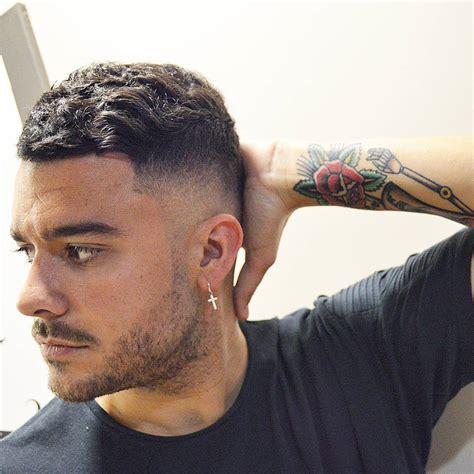 mens hairstyles wavy hair fade haircut