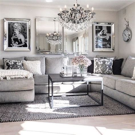 living room decor ideas glamorous chic grey pink