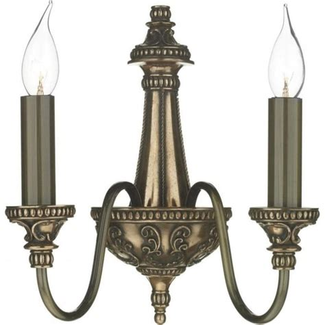 double insulated wall sconce rich bronze regency period