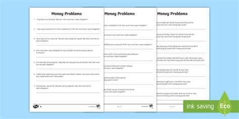 ks2 maths money problems primary resource teacher