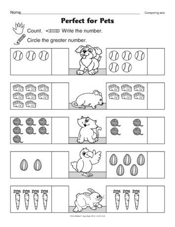 math worksheet beginning mathematicians comparing sets freebie themailbox