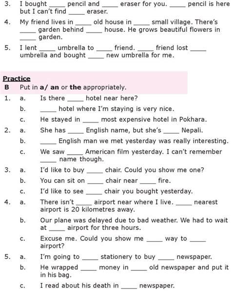 grade 8 grammar lesson 26 articles 2 grammar