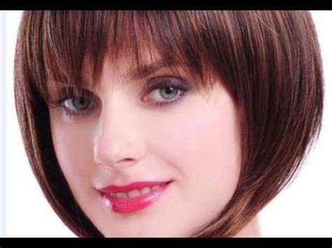 short bob hairstyles fine hair bangs youtube