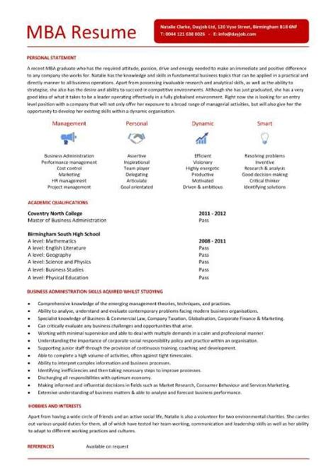 student entry level mba resume template