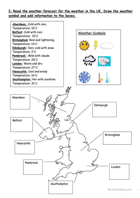 weather forecasts worksheet free esl printable worksheets teachers
