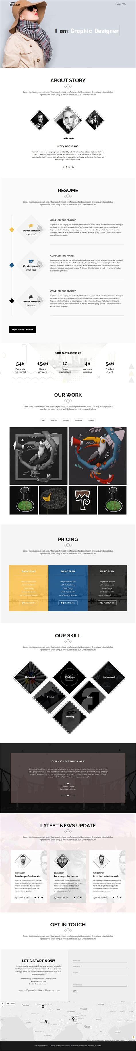 prothoma minimal design 5in1 responsive html5 bootstrap theme