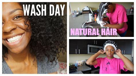 natural hair wash day routine keyah youtube