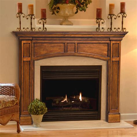pearl mantels vance wood fireplace mantel surround