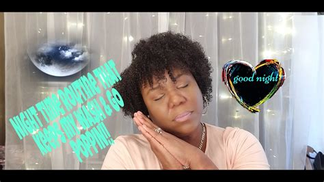 natural hair night time routine wash poppin youtube