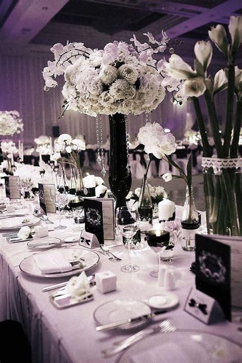black tie wedding ideas dazzle wedding centerpieces black