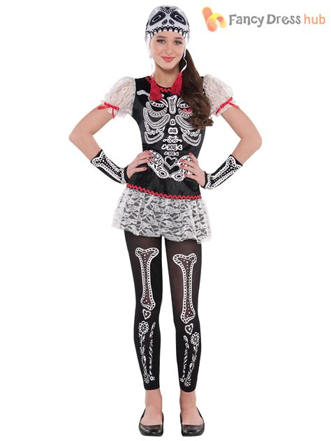 age 8 16 girls day dead skeleton mexican