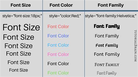 html fonts change font color html tutorialbrain