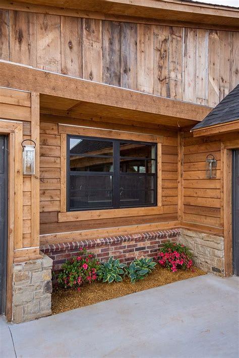 siding combination natural cedar reclaimed barnwood stain color