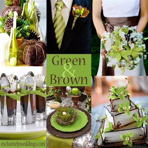 fab wedding colors paired brown chocolate brown wedding