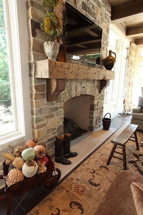 interior design cleveland home fireplace rustic