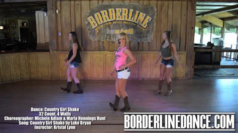 country girl shake line dance tutorial youtube