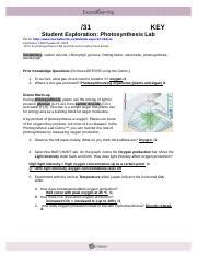 photosynthesislabstudent copy date student exploration photosynthesis lab vocabulary