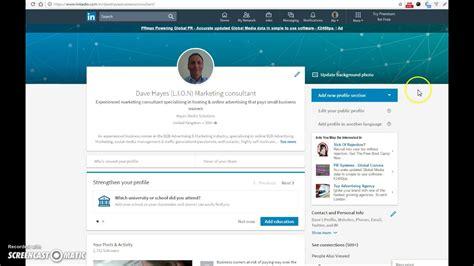 linkedin edit profile information linkedin youtube