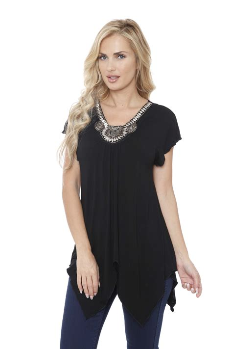 white mark women embellished top tunic shop online