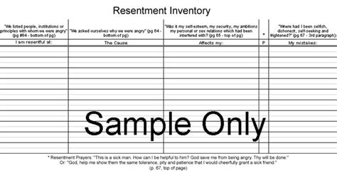 printable aa step 4 worksheets returnto page worksheets