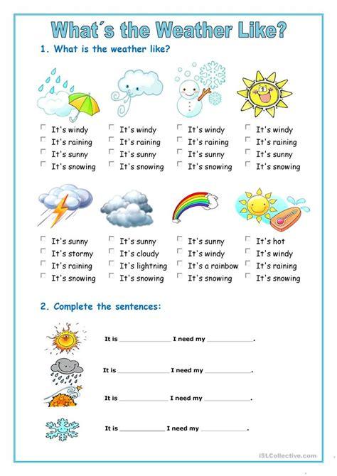 Weather Forecast Worksheet Free Esl Printable Worksheets