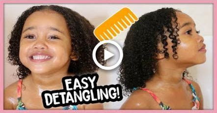 kids curly hair wash day routine easy detangling