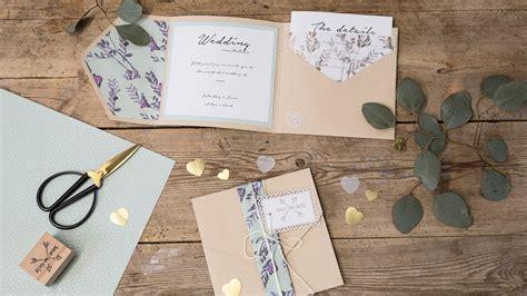 diy homemade wedding invitations østrene grene youtube