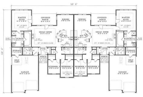 3 bedroom duplex floor plans house plans home