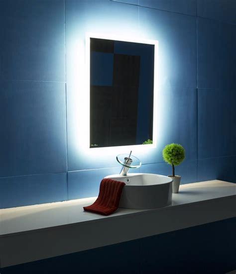 backlit bathroom mirror rectangle 24x32 light house gallery