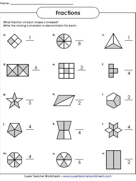fraction worksheets 2nd grade worksheets fractions worksheets super
