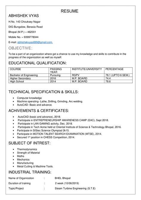 14 resume sles