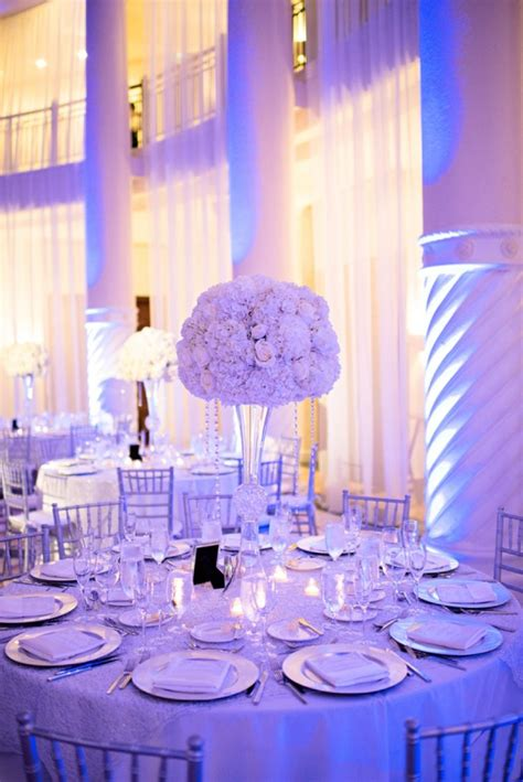 chic classic silver white wedding chagne wedding decorations