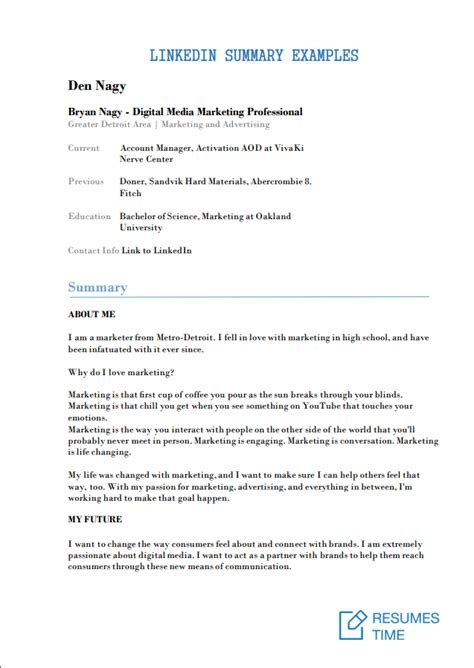 15 linkedin summary exles work resumestime