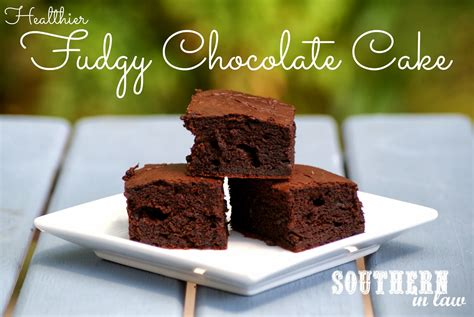 southern law recipe healthier fudgy chocolate cake