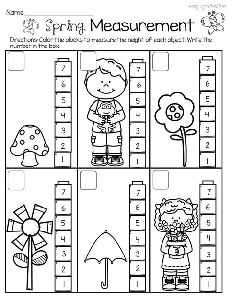 spring measurement preschool worksheets preschool worksheets school worksheets