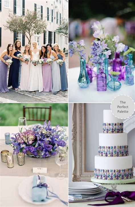 trending blue purple wedding wedding colors wedding colors