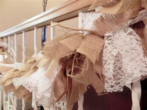 burlap lace garland rustic wedding decor burlap garland