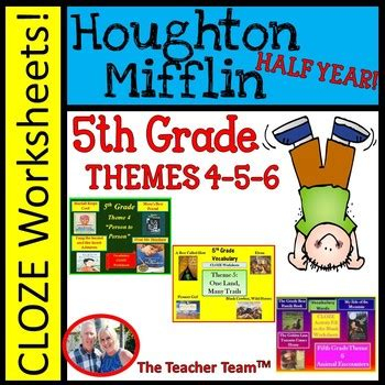 houghton mifflin reading 5th grade cloze worksheet year